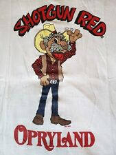 Vtg 80s Shotgun Red Opryland Ringer style Tshirt Xl. Country Western
