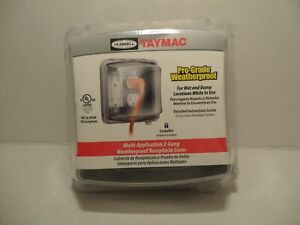 NEW Hubbell TAYMAC Pro-Grade Weatherproof Lockable 2-Gang Receptacle Cover