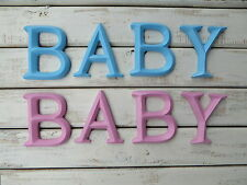 Baby Wall Decor ~ Blue Or Pink Letters Sign Family Nursery ~ Childrens Room