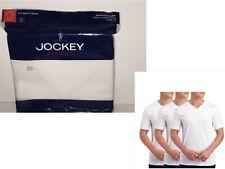 Mens Jockey Classic V-neck T-Shirts 3 Pack Sz Small