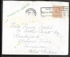 BAHAMAS, KGV1 1940 CENSORED COVER TO JAMAICA, FEW EXAMPLES EXIST RECORDED