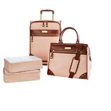 Samantha Brown Croco Embossed Luggage 4-piece Set Nude NEW!!
