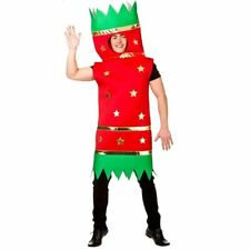 Adult Christmas Cracker Costume Mens Ladies Festive Fancy Dress Outfit