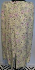 Top Shop ladies yellow print wide leg silk trousers size 12