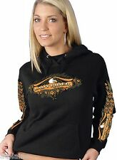 Sweat femme capuche LADY RIDER - Taille L - Style BIKER HARLEY