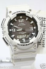 AQ-S810WC-7A White Casio Men's Watch Tough Solar 5 Alarms Digital Resin New