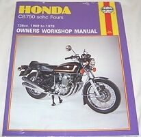 Haynes Workshop Manual for HONDA CB CB750 sohc Fours 1969 to 1979