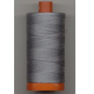 Aurifil Thread #2605 Grey Cotton Mako 50 wt 1422 yard spool