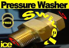 PRESSURE WASHER ANTI-TWIST HOSE SWIVEL ROTATING COUPLING 3/8M x 3/8F TRIGGER GUN