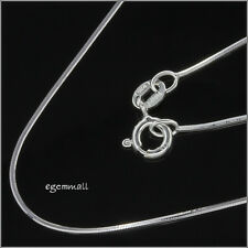 """Italian Sterling Silver Cube Snake Chain Necklace 0.8mm 18"""" #51662"""
