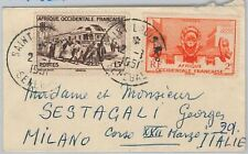 TRAINS Train -- SENEGAL -  POSTAL HISTORY:  COVER  to ITALY 1951