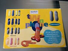 Vintage Swatch Twin Phone Corded Telephone Blue Moon Never used in Box TWO1-2US