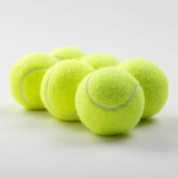 10x Tennis Balls Training Kids Adult Practice Ball Yellow Sport Supply Kits Chic