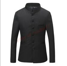 Mens Single Breasted Suit Coat&Pants Blazer Casual Fashion Stand Collar Wedding