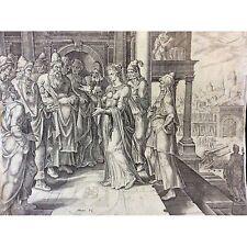 Judith sages de Béthulie, Holopherne Philip Galle Maarten van Heemskerck 1554
