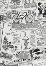 Galerie Black & White Old Vintage Advertisements Newspaper Wallpaper BK32083
