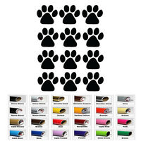 12 Dog Cat Animal Paw Print for Car Window Wall Bumper Bike Helmet Decal Sticker