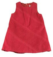 3aab43862 JACADI Girl's Broche Lacquered Red Sleeveless Dress Age: 6 Years NWT $64