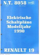RENAULT 19 R19 1990 ELEKTRISCHE SCHALTPLÄNE Elektrik WERKSTATT HANDBUCH