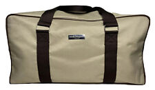 Salvatore Ferragamo Perfume Duffle Weekend Gym Carry on Travel Bag Italy Tan New