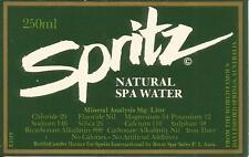 Label-SPRITZ Spa Water,Daylesford Springs,AU.Australia mineral.original Boon Spa