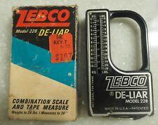Vintage Zebco Fisherman's De-liar Model 228, 28 Lb. Scale, Original Box
