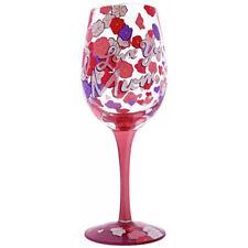 "Lolita ""I Love You Mum"" Hand-Painted 444ml Wine Glass - Boxed"