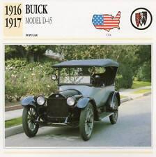 1916-1917 BUICK Model D-45 Classic Car Photograph / Information Maxi Card