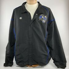 Champion Orlando Magic NBA Team Jacket Mens Sz XL Black Button Front Coat 8c25a94bf
