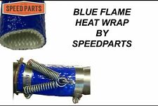 "VINTAGE GO KART RACING ""BLUE FLAME"" HEAT WRAP 12"" long 1.75"" ID STOP MESSY LEAKS"