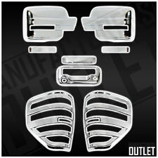 2009-2014 Ford F-150 Chrome Mirror Tailgate w/Cam Hole Taillight Cover