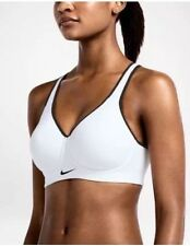 Nike Pro Rival High Support Sports Bra White Black 620277-100 SIZE:38 B