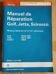 MANUEL D'ATELIER VW GOLF JETTA SCIROCCO 1.5 1.6 DIESEL : MECANIQUE