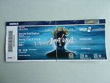 Cirque du Soleil Amaluna VIP Ticket Abgelaufen Door 1 Reihe B für 27.12 Sammler