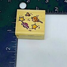 Halloween Treats Candy by Penny Black Rubber Stamp Wood Mount