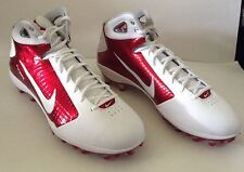 Nike Men's Zoom Hyperfly Flywire TD Football Cleats White/Red Size 16 New
