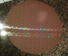 "Rare 12"" (300mm) Copper-Tantalum Ic Microchip Silicon Pattern Wafer"