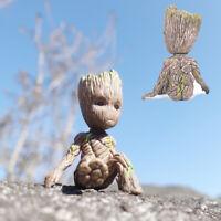 6 CM Guardians of The Galaxy Baby Groot Figure Flowerpot Pen Pot Toy Gifts