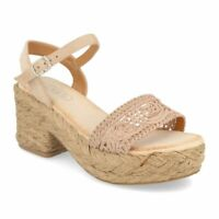 Sandalia con Tacon y Plataforma de Yute Estilo Ankle Strap YZ19-118-Beige*
