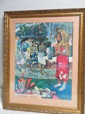 Vintage Paul Gauguin Ia Orana Maria Ornately Framed Print Impressionist Era