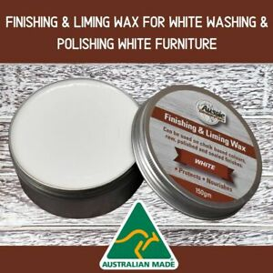 Finishing & Liming Wax White 150gr For Chalk Paint,Raw, Polished & Sealed Wood