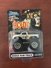 MUSCLE MACHINES DODGE RAM MONSTER TRUCK 1:64 DIE CAST AC/DC M064-05-15 WHITE HTF