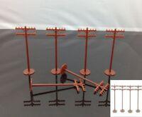48pcs 42102 Bachmann HO Scale Telephone Poles new Model Railway Scenery