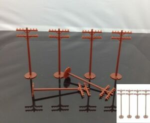 48pcs 42102 Bachmann HO Scale Telephone Poles 1:87 Model Railway Scenery