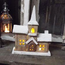 INVERNALE Decorazione natalizia CHIESA Villaggio ILLUMINAZIONE Di Natale