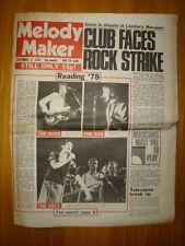 MELODY MAKER 1978 SEP 2 JAM TOM ROBINSON SHAM 69 PURSEY