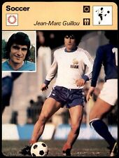 Editions Rencontre Sportscaster Football Card (1977-80) - Jean-Marc Guillou
