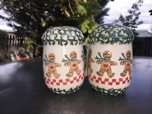 Folkcraft by Tienshan Gingerbreadman salt and pepper set