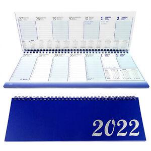 Tischkalender 2022 Blau Querkalender Terminkalender Schreibtischkalender