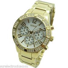 Guess reloj de las mujeres Cronógrafo W0141l2 Ladies Sport pulsera oro